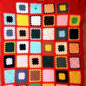 Handknitted Crochet blanket / throw